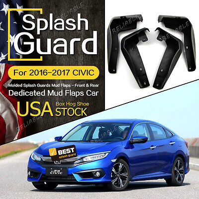 Molded Splash Guards Mud Flaps-Front & Rear for HONDA CIVIC 2016-2017 US STOCK