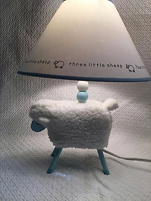 Plush Lamb Nursery Lamp with Shade, pre-owned, good condition, PRECIOUS!