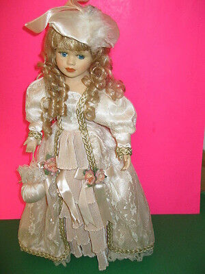 """Victorian Porcelain Doll 21"""" with Stand (Unique 1-5000 Collectible"""