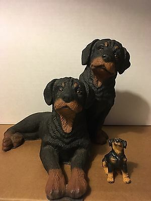 Statue Of Two Rottweiler Pals
