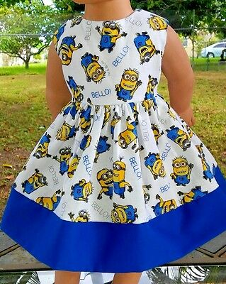 Doll Clothes/Handmade/18 Inches/American Girl Dolls/Minions Dress.