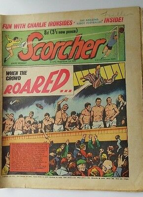 Scorcher Comic Crystal Palace  Fulham  5Th December 1970  Free P&p Bargain