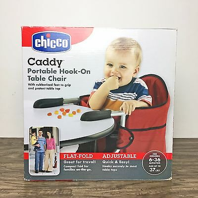 Chicco Caddy Portable Baby High Chair Seat Hook-on Collapsible Table Red Toddler