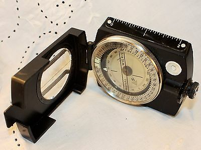 Excellent vintage West Germany WILKIE compass with original case