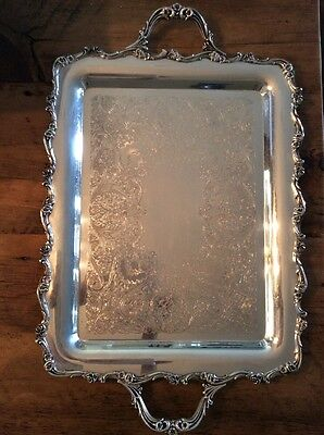 Wilcox International Silver Co American Rose Rectangular Tray