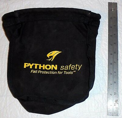 Python Safety 1500119 Black Canvas Small Parts Pouch Iron Workers Boilermakers