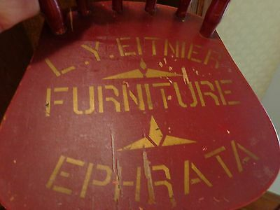 Vintage Paint Decorated Wood Furniture Advertising Chair, Ephrata, Pennsylvania