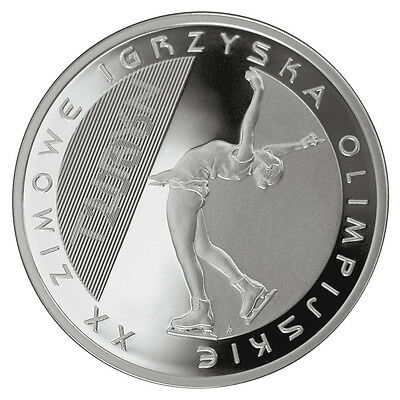 2006 Coin of Poland proof 10zl SILVER -  XXth OLYMPIC WINTER GAMES TURIN (figure