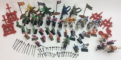 New 120 Pcs Knight Kids Dragon Figurines Fantasy Toys Medieval Times Soldier Set