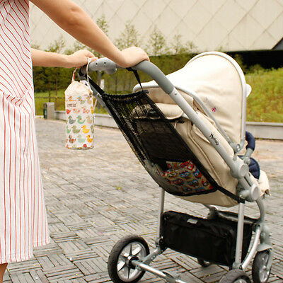 Baby Infant Stroller Hanging Mesh Bottle Diaper Storage Organizer Bag Holder