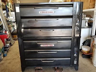 Blodgett 981+981 Double Stone Deck Pizza Oven Nat Gas Tested w/ live pics