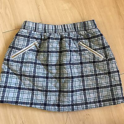Girl's Janie And Jack Gray Plaid Skirt Size 7
