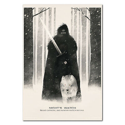 Game of Thrones Poster - Jon Snow of the Night Watch - High Quality Prints