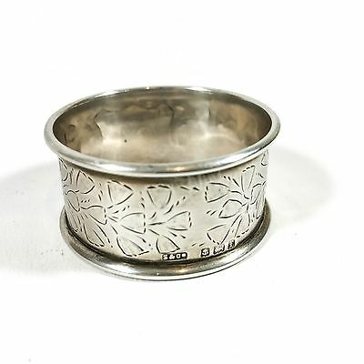 Antique Solid Silver Napkin Ring Hallmarked 1905 Collectable Serviette Table