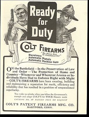 1917 Colt Firearms Ready For Duty Sailor Soldier Preserve Law Order Images Ad