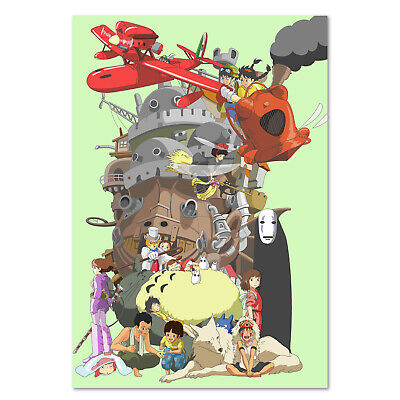 Studio Ghibli Characters Poster - High Quality Prints