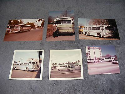 6 Rare Color Vintage Photographs Of Buses New Jersey Look!