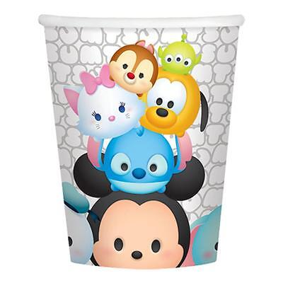 Tsum Tsum 9 oz Paper Beverage Cups 8 Per Package Birthday Party Supplies NEW