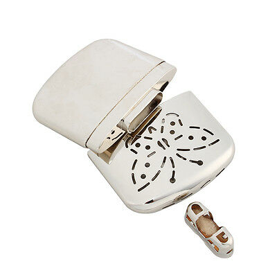 Silver Ultralight Portable Mini Hand Warmer Indoor Outdoor Handy Warmer Heater