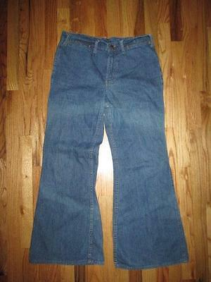 Vintage Levis Orange Tab Low Rise Bell Bottom Denim Blue Jeans