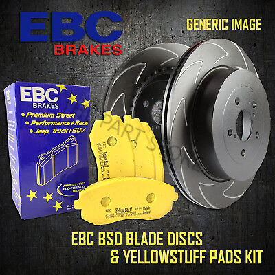 NEW EBC 288mm FRONT BSD PERFORMANCE DISCS AND YELLOWSTUFF PADS KIT PD18KF005