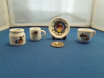 Miniature China 5 Piece Tea Set Dora The Explorer Porcelain Collectible
