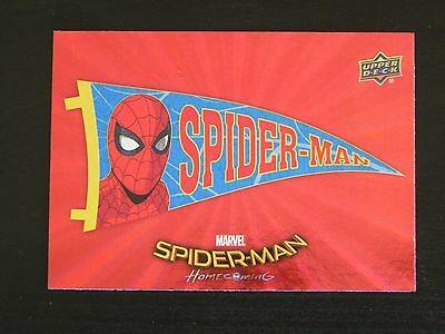 2017 UD Spider-Man Homecoming RED FOIL RB-18 Spider-Man WALMART EXCLUSIVES