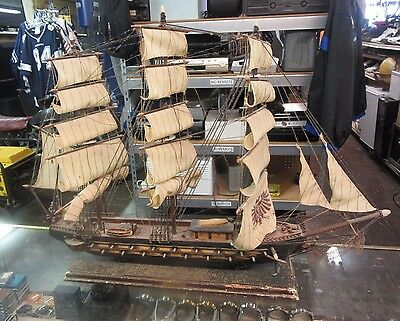 "Spanish Wooden Frigate Ship - Fragata Espanola Ano 1780 32"" x 24"" Look at Pics"