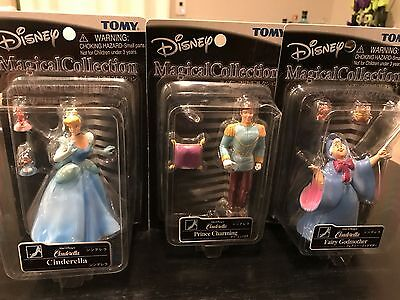 NEW TOMY Disney Magical Collection LOT OF 3 Cinderella Charming Fairy Godmother