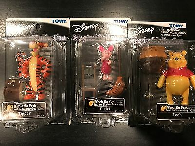 NEW TOMY Disney Magical Collection LOT OF 3 Winnie the Pooh Tigger Piglet 28-30