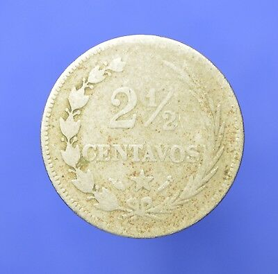 """DR14 Dominican Republic Coins: 1888 """"Privy Marks"""" 2 1/2 Centavos *SMALL DATE*"""