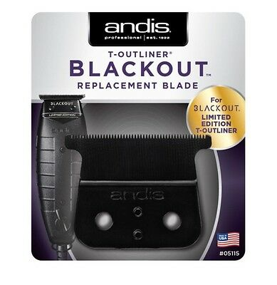 Andis Blackout T-Outliner Replacement Blade # 05115 Or T-outliner NEW