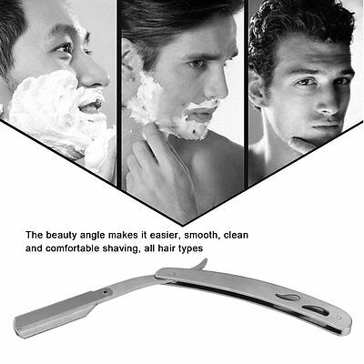 Professional Men Male Stainless Steel Manual Shaver Barber Barber Beard Shaver U