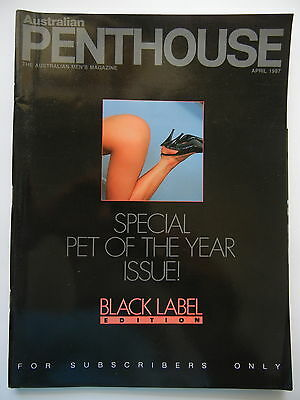 April 1987 Black Label Australian Penthouse Magazine - Subscriber Only Edition
