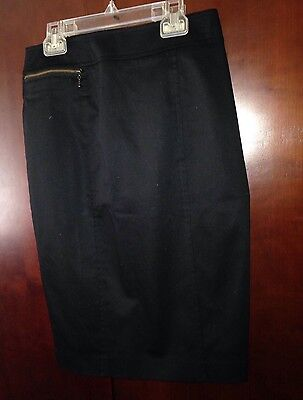 Nwt Black Pencil Skirt 98% Cotton By Mossimo Size 4