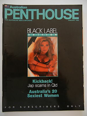 January 1993 Black Label Australian Penthouse Magazine - Subscriber Only Edition