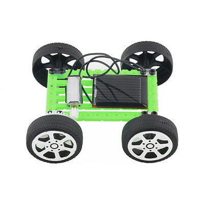 Black&Green Solar Toy DIY Car Kids Educational Puzzle IQ Gadget Hobby Robot