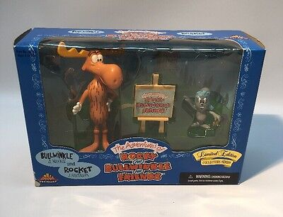 Adventures Of Rocky And Bullwinkle & Friends Mib 1998 Cartoon Tv Action Figures