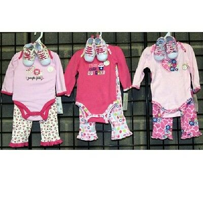 Wholesale Baby Gear Girls sizes 0-9 months assorted three piece sets [GNBBGSWS]