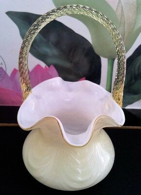 Fenton Glass Basket Vintage