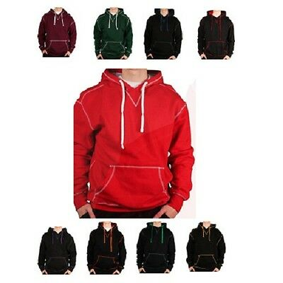 MENS 9.5OZ JERSEY LINED HOODED FLEECE W/ CONTRAST STITCH 24pcs. [MFT-1809VA 8]