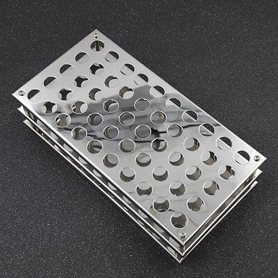 Stainless Steel Test Tube Rack Display Stand For 13mm Tubes 50 Tubes Test Tools