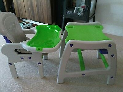 Infa secure convertible high chair and table