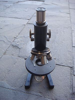 RRR RARE ANTIQUE Carl Zeiss Jena Microscope + ORIGINAL HARD CASE