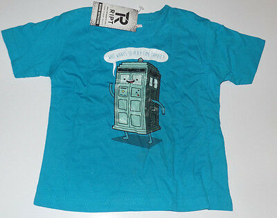 New RIPT Cute Toddlers Tee Dr Who Adventure Time BMO Size 2 Shirt