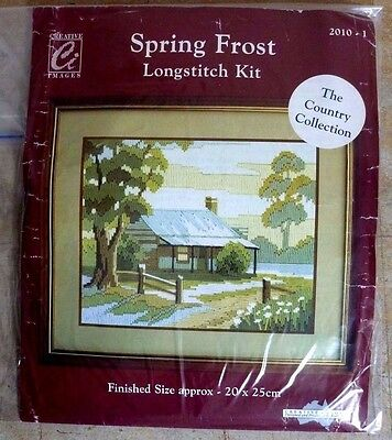 CREATIVE IMAGES LONGSTITCH KIT No 2010-1 SPRING FROST - UNUSED REVAMPED KIT