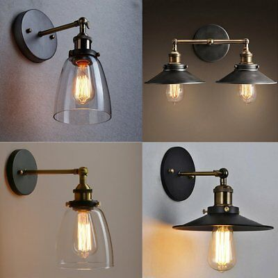Vintage Antique Industrial Sconce Loft Rustic Metal Iron Wall Light Lamp Quality