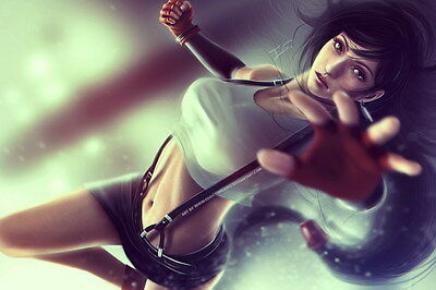 "092 Final Fantasy - Tifa Lockhart FF Lightning Face Girl TV Game 36""x24"" Poster"