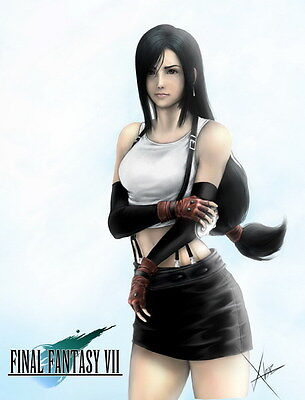 "103 Final Fantasy - Tifa Lockhart FF Lightning Face Girl TV Game 24""x31"" Poster"