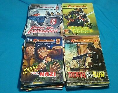 40+ Commando For Action And Adventure,gold Etc,war Comics,job Lot Collection,